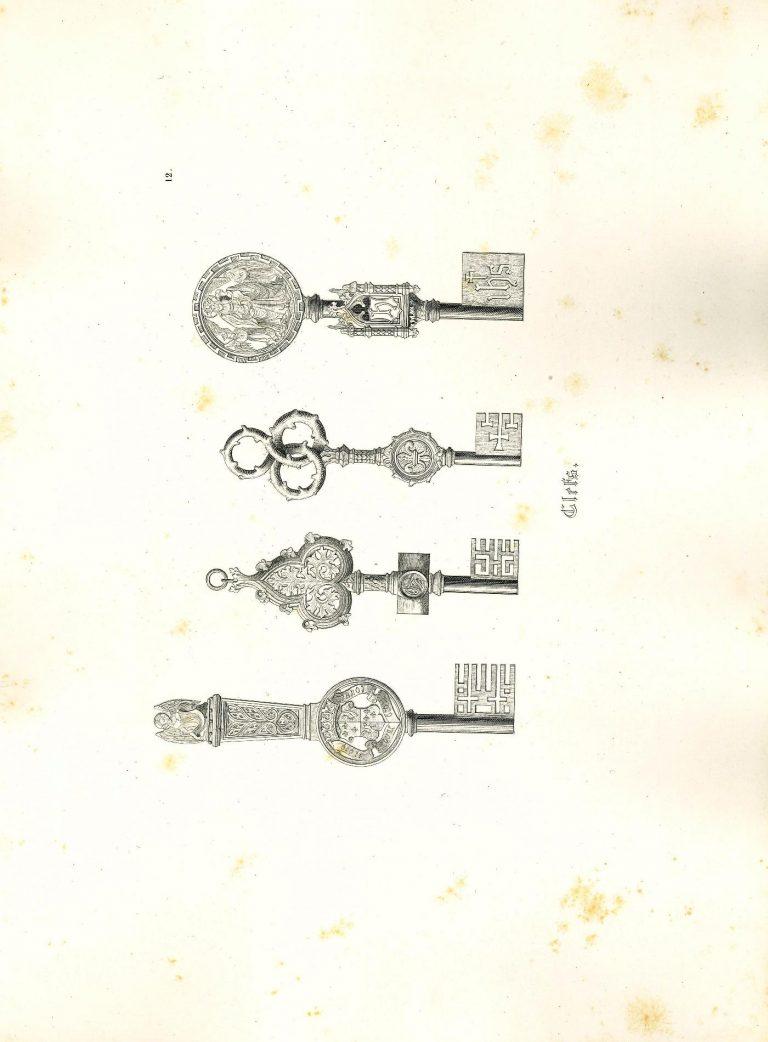 Modèles de ferronerie par A. Pugin, 1850