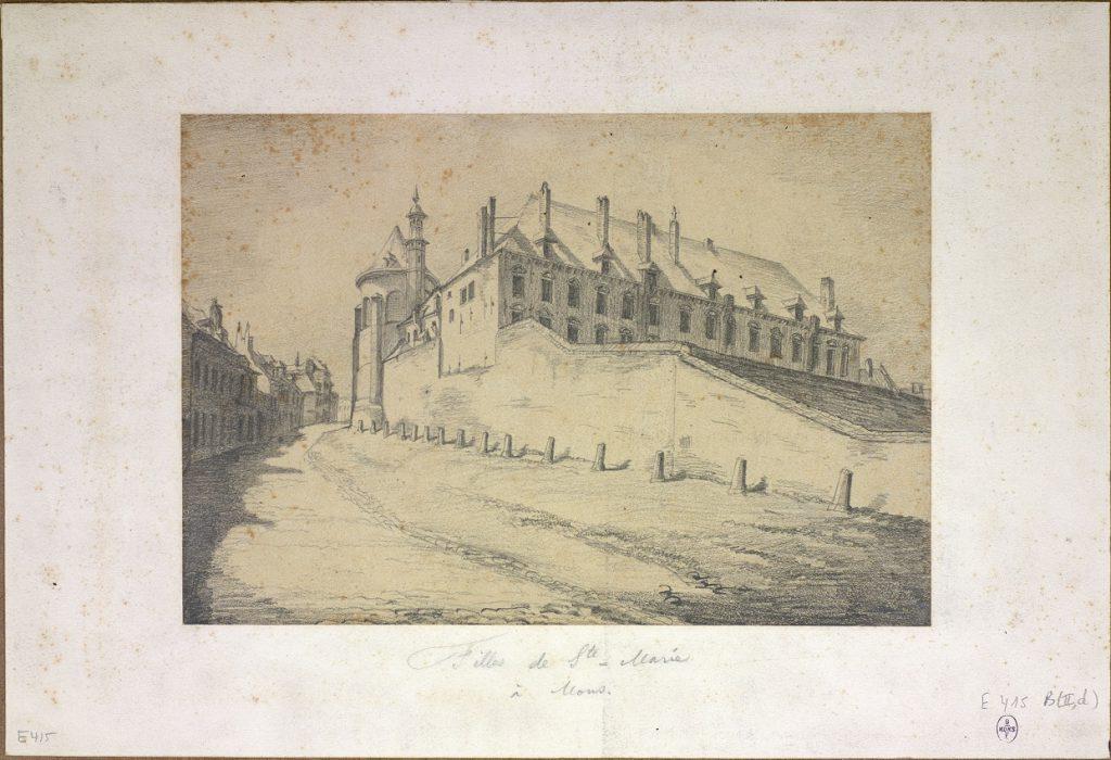 Dessin de Léon Dolez, Mons, 1870